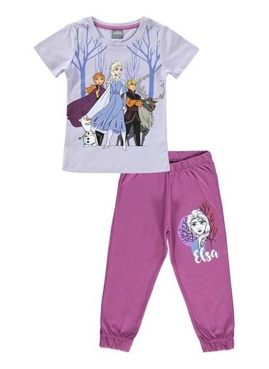 Frozen Kız Çocuk Pijama Takım Lila